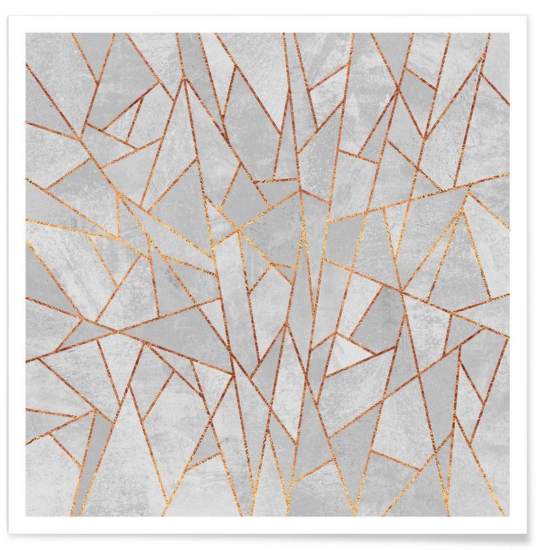 shattered concrete als premium poster juniqe ideas poster mit rahmen gerahmte kunstdrucke. Black Bedroom Furniture Sets. Home Design Ideas