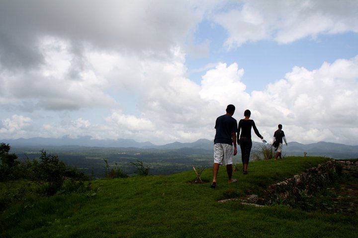 View at the top of the hill, Coorg, India