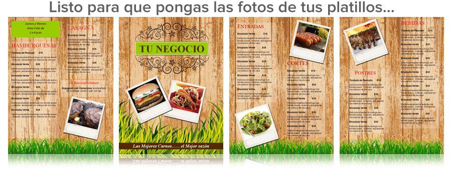 Carta Menú De Restaurante Para Word Menus De Restaurantes