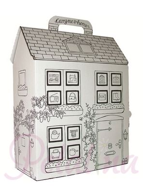 Carry dollhouse for girls to paint