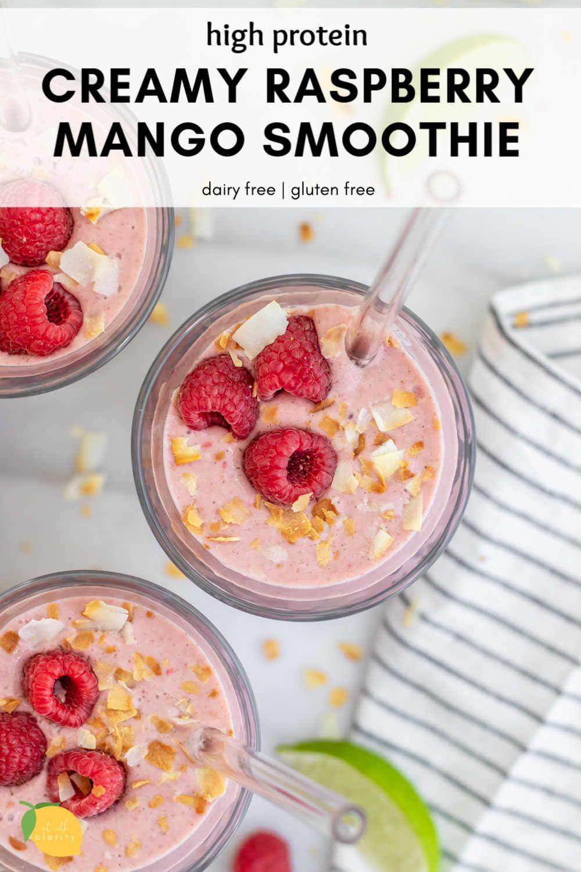 Dairy free mango raspberry smoothie recipe easy