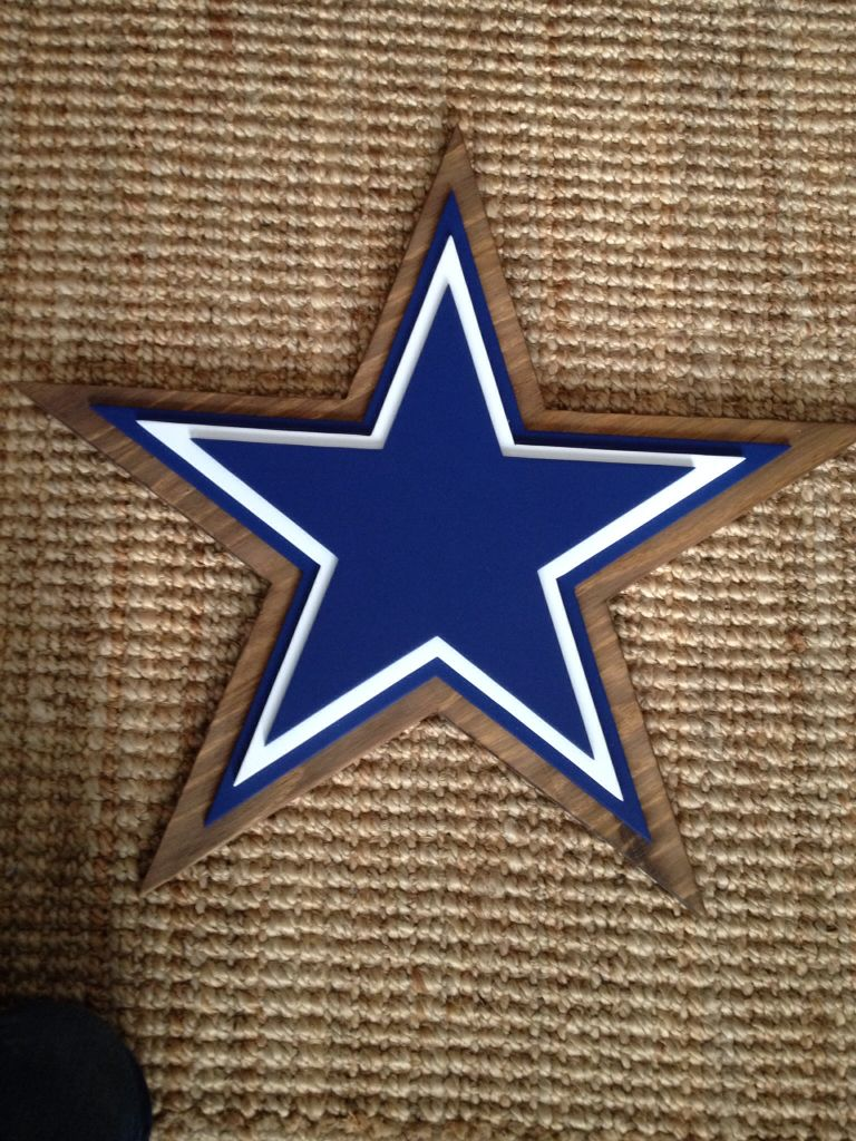 3 d logo sign dallas cowboys logo sign wood sports sign for Dallas cowboys arts and crafts