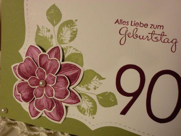 Gluckwunschkarten Romantische Geburtstagskarte Zum 90