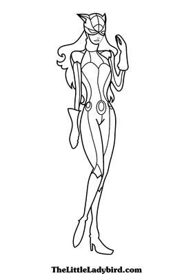 catwoman cartoon coloring pages - photo#36