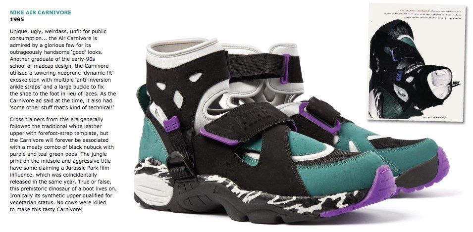 Catedral Nominal lavabo  Nike Air Carnivore 1995 | Fashion shoes, Tenis shoes, Sneakers