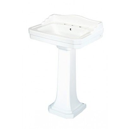 Foremost Fl 1930 8w Series 1930 Vitreous China Pedestal Sink Combo In White Plumbingdepot Com Pedestal Sink Sink Pedestal