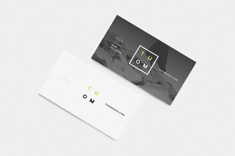 Clean Business Card Free Mockup | Graphisme | Pinterest | Mockup ...