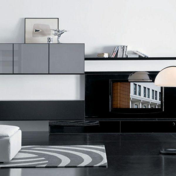 tv schrankwand grau teppich muster | Sala de TV | Pinterest | Tv ...