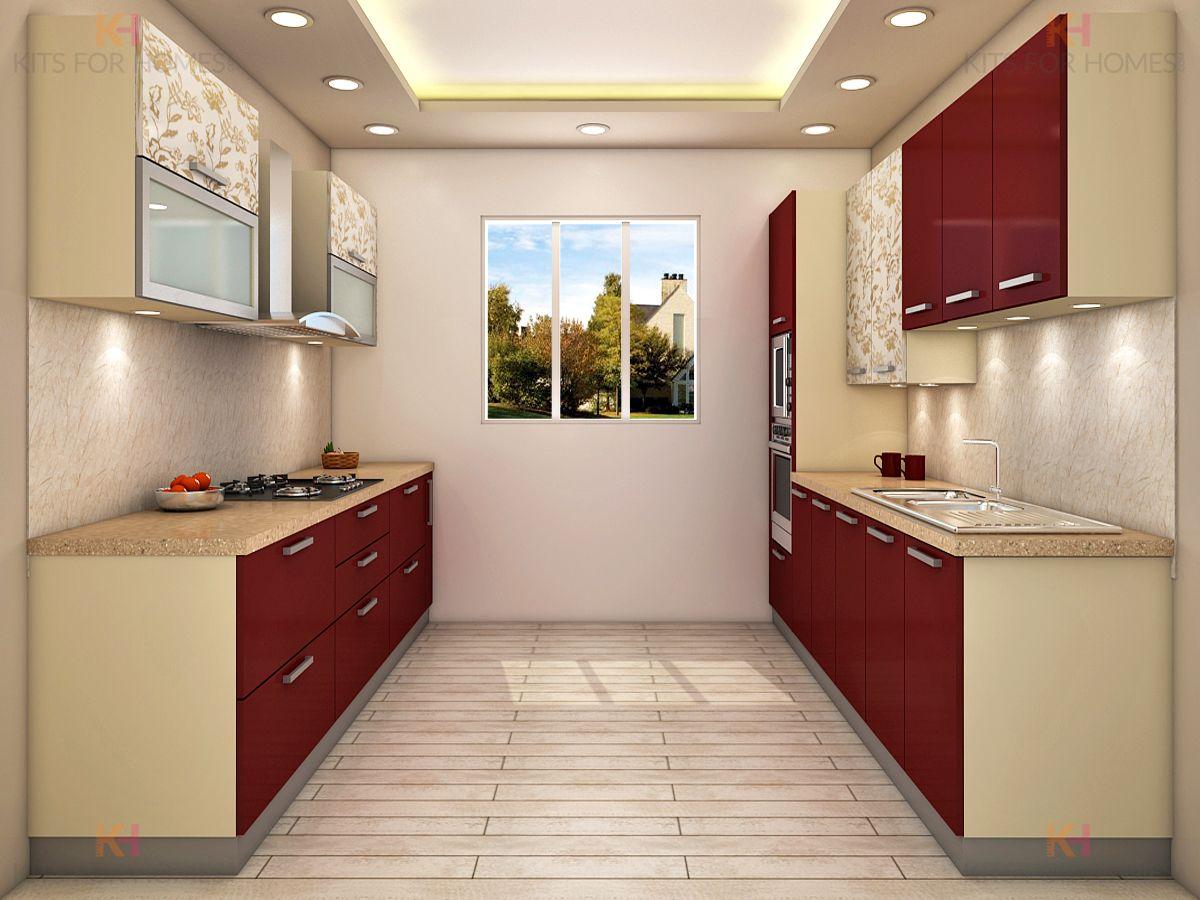 Kitchen Ki Design Parallel kitchen design, Modern
