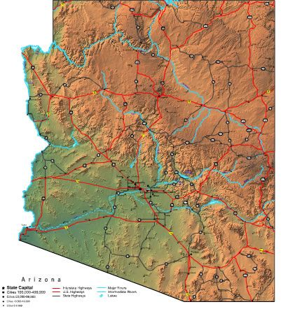 Interactive Map Of Arizona.Interactive Arizona Map Arizona Usa In 2019 Arizona State Map