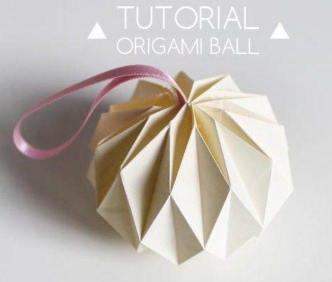 Faire des boules de no l diamant en papier les tutos alice aux pays des merveilles - Origami boule de noel en papier ...