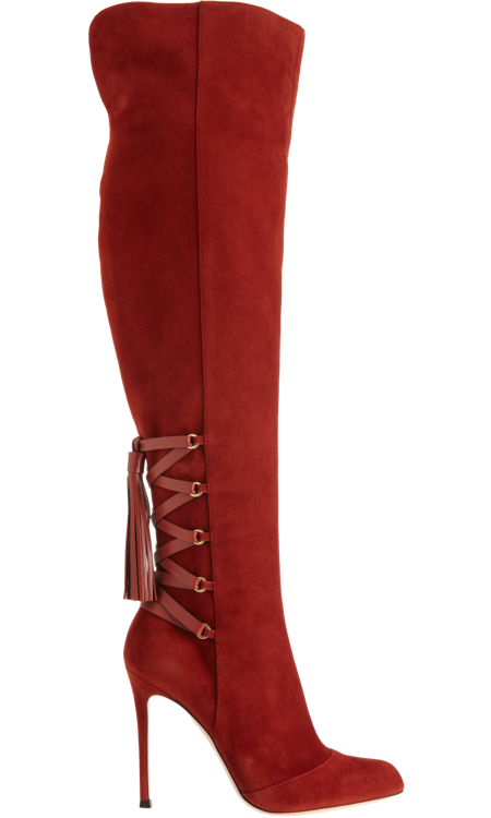 Gianvito Rossi Kneehigh Tassel Boot At Barneys Com Boots Shoe Boots Shoes