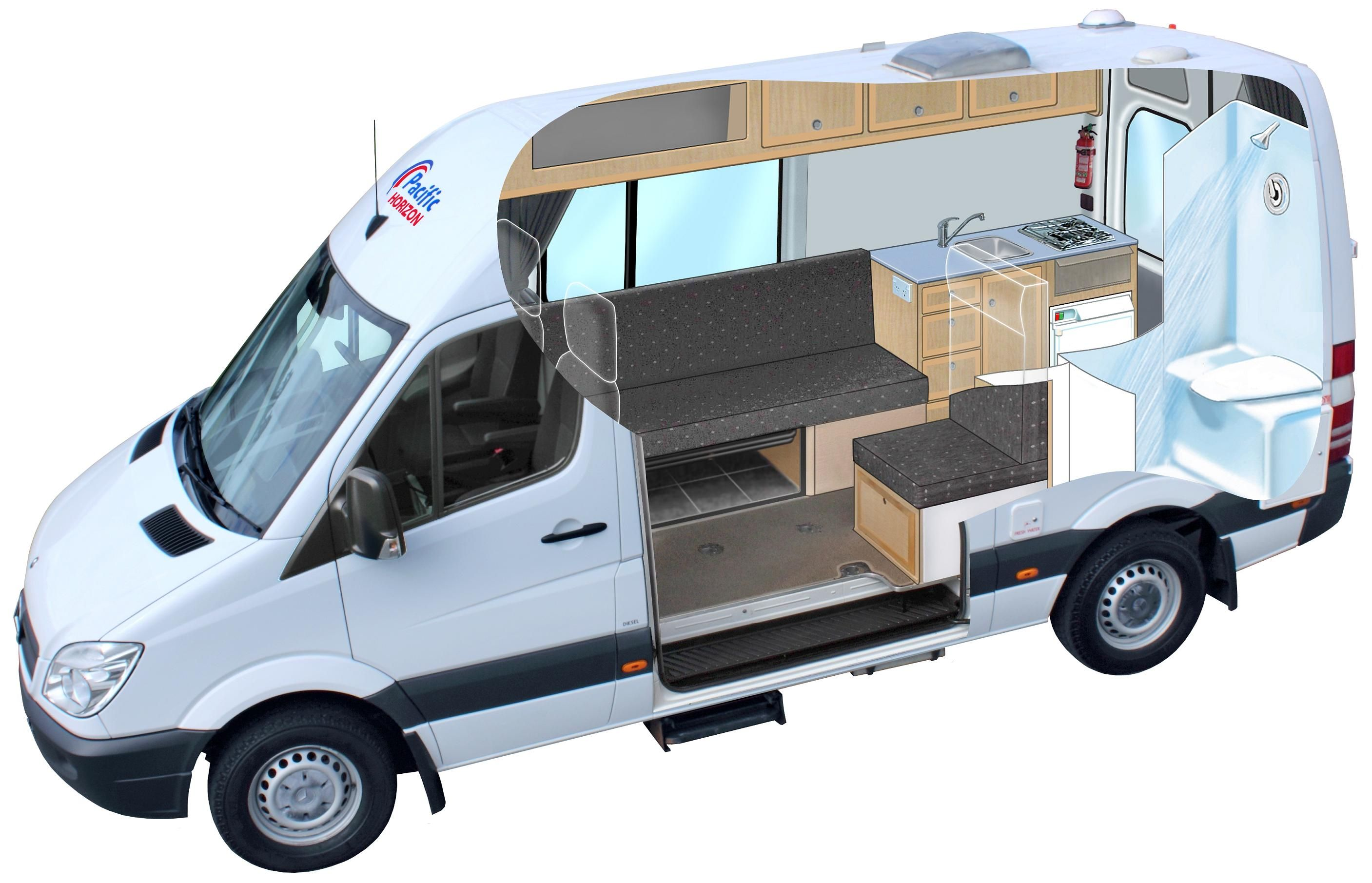 Kitchen And Toilet At The Back Transit Conversion Ford Transit