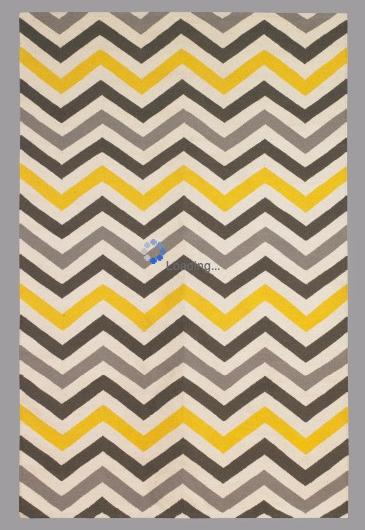 Chevron Area Rug For The Living Room Yellow Grey Black Theme