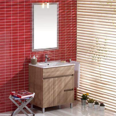 Oferta especial ba o conjunto matty mueble lavabo espejo for Oferta mueble lavabo