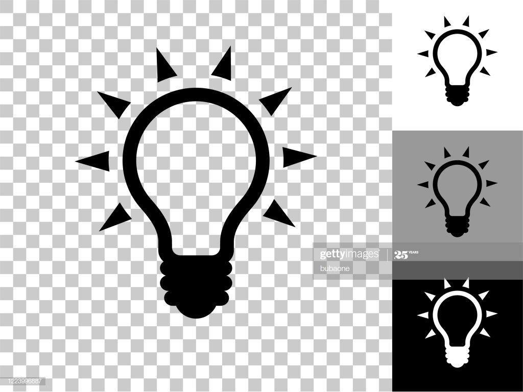 Light Bulb Icon On Checkerboard Transparent Background This 100 In 2020 Light Bulb Icon Transparent Background Checkerboard