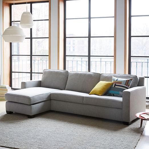 Henry 2 Piece Pull Down Full Sleeper Sectional W Storage