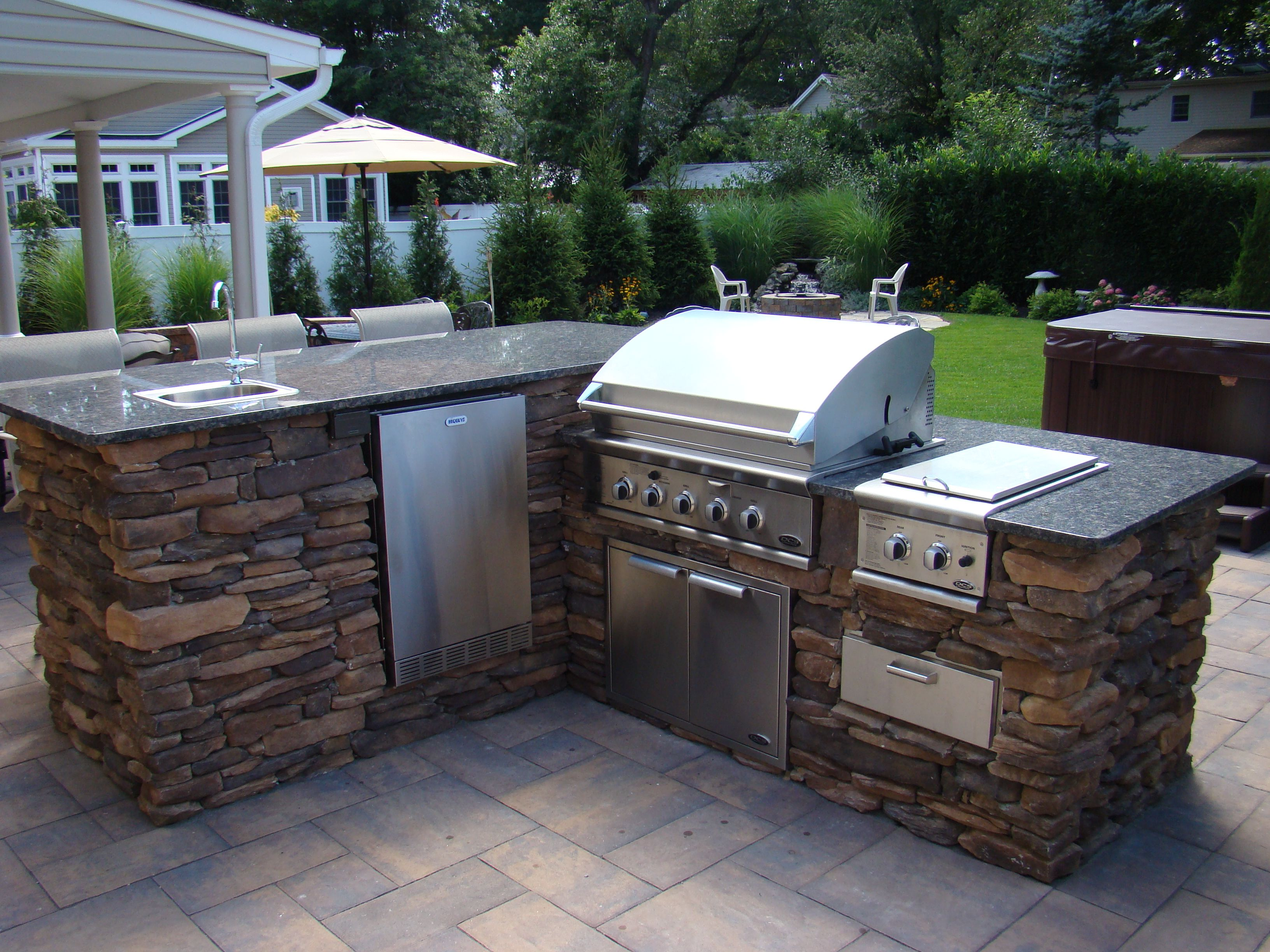 outdoor kitchen built in grill diy grill barbecue grill on outdoor kitchen bbq id=60040