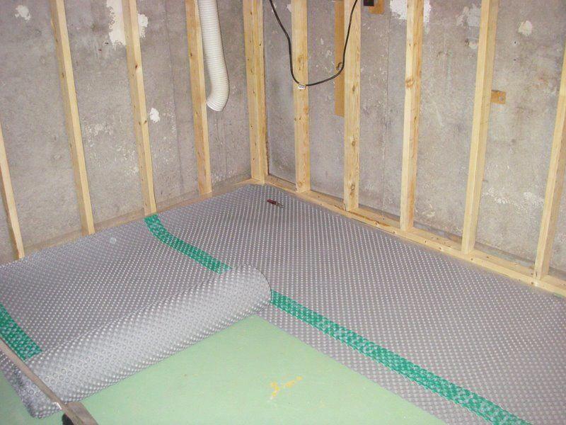 basement subfloor howto Waterproofing basement