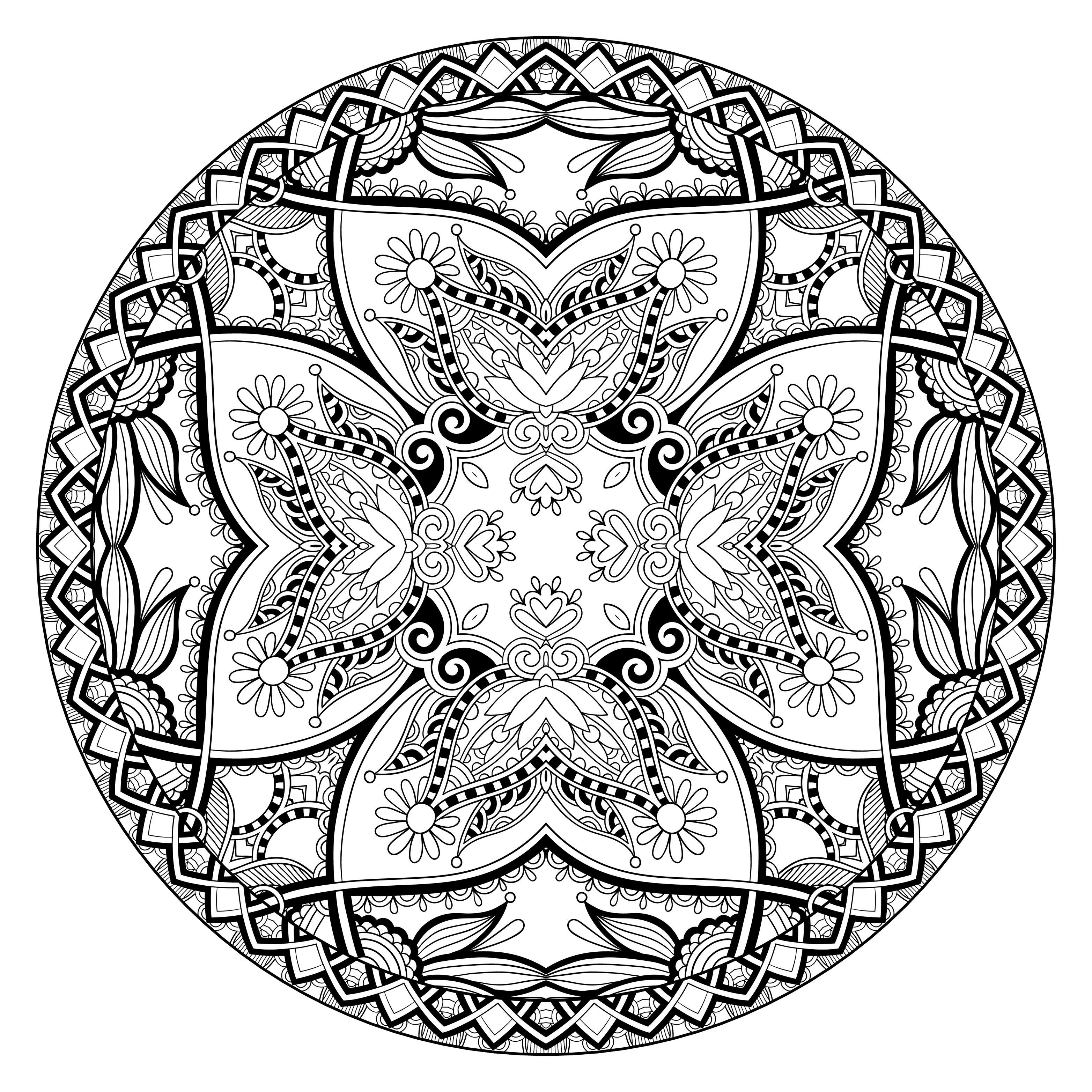 free coloring page coloring mandala by karakotsya 2