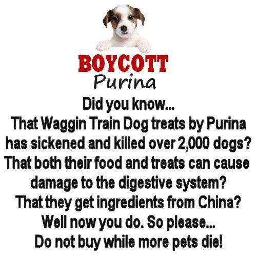 Purina The Waggin Train Dog Treats By Purina Has Sickened And