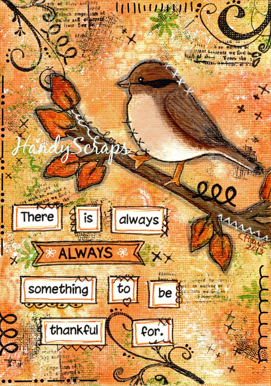 Arte France Journal Thankful By Cathy Mixed Media Journal Art Making Backgrounds