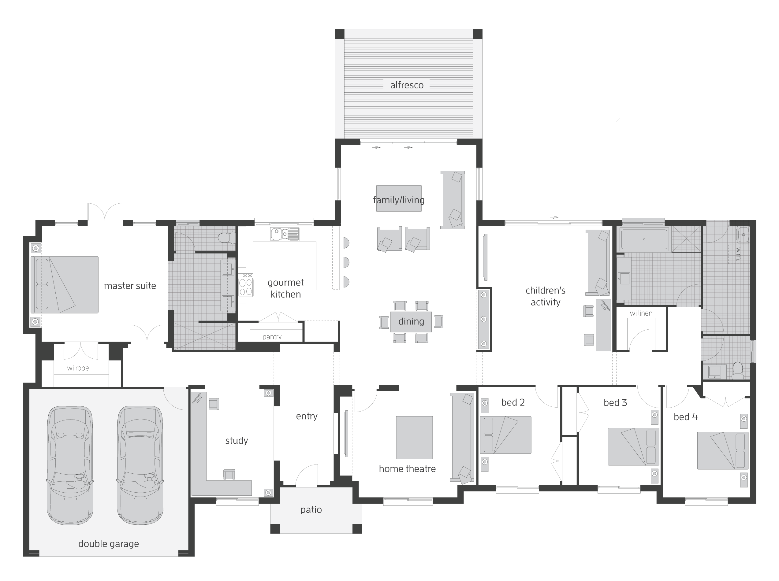 Mornington floor plan by mcdonald jones exclusive to for Queenslander floor plans