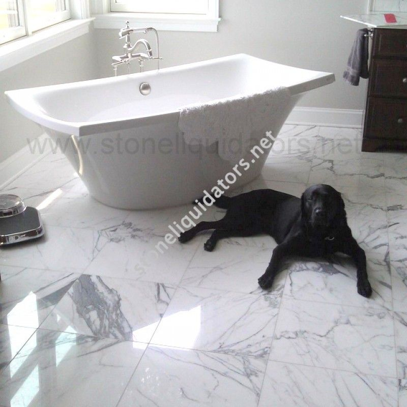 18 X 18 Italian White Statuary Marble Tile Statuary Marble Tile Marble Tile Carrara Marble Floor