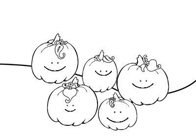 Pumpkins Coloring Sheets Five Little Pumpkins Pumpkin Coloring