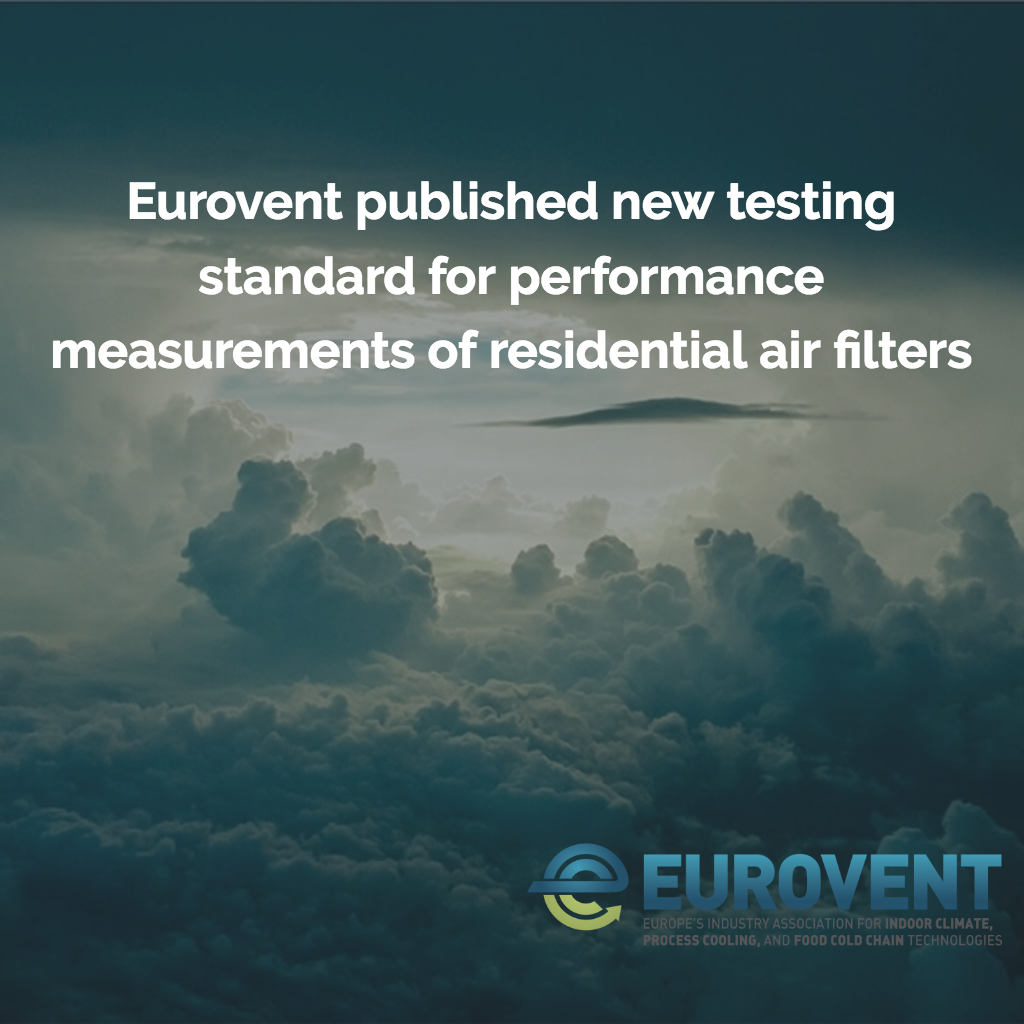 Eurovent published new testing standard for performance