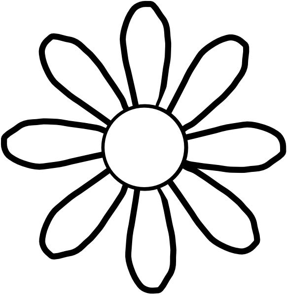 Drawings of flowers template. Traceable flower templates this