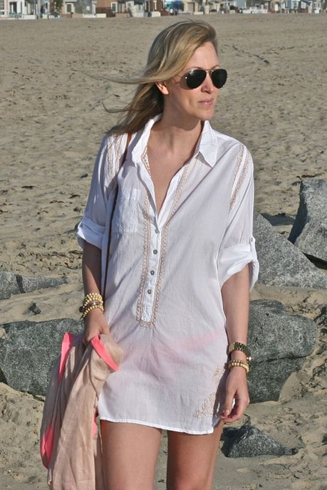 5866f570 Subtle Luxury Cotton Embroidery Boyfriend Shirt on fashion blogger, My  Style Diaries