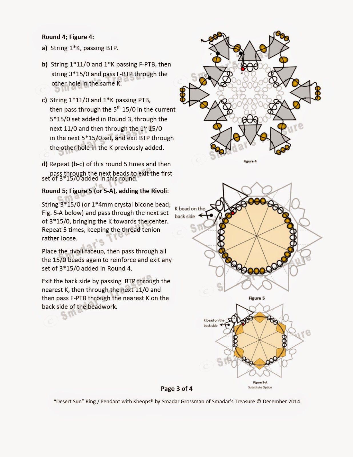 Desert Sun 3 Smadar's Treasure: Free Pattern with Kheops par Puca Beads