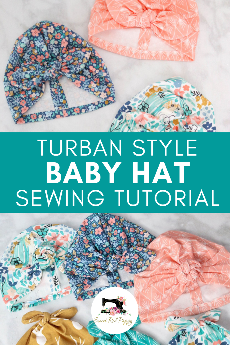 Knotted Turban Baby Hat Sewing Tutorial