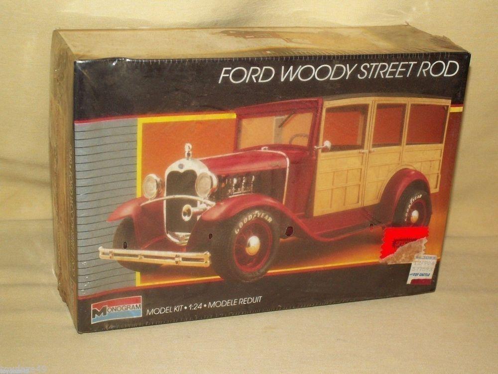 MONOGRAM FORD WOODY STREET ROD #2749 NEW 1:24 VINTAGE 1987 CAR MODEL ...