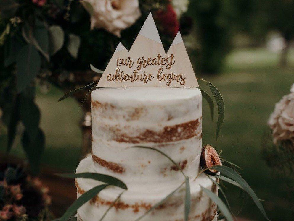 15 Ideas For Your Mountain Wedding Diy Wedding Cake Topper Diy