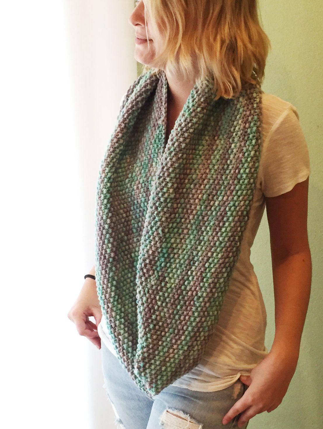 seed stitch infinity scarf - free pattern | Knitting | Pinterest ...