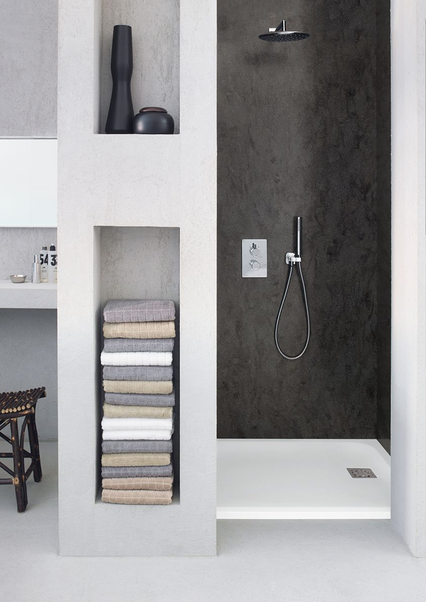 Corian Shapes Take A Step Forward With A Renewed And Expanded Range Offering Versatile And Modern Design With In Bathroom Design Modern Bathroom Shower Tray