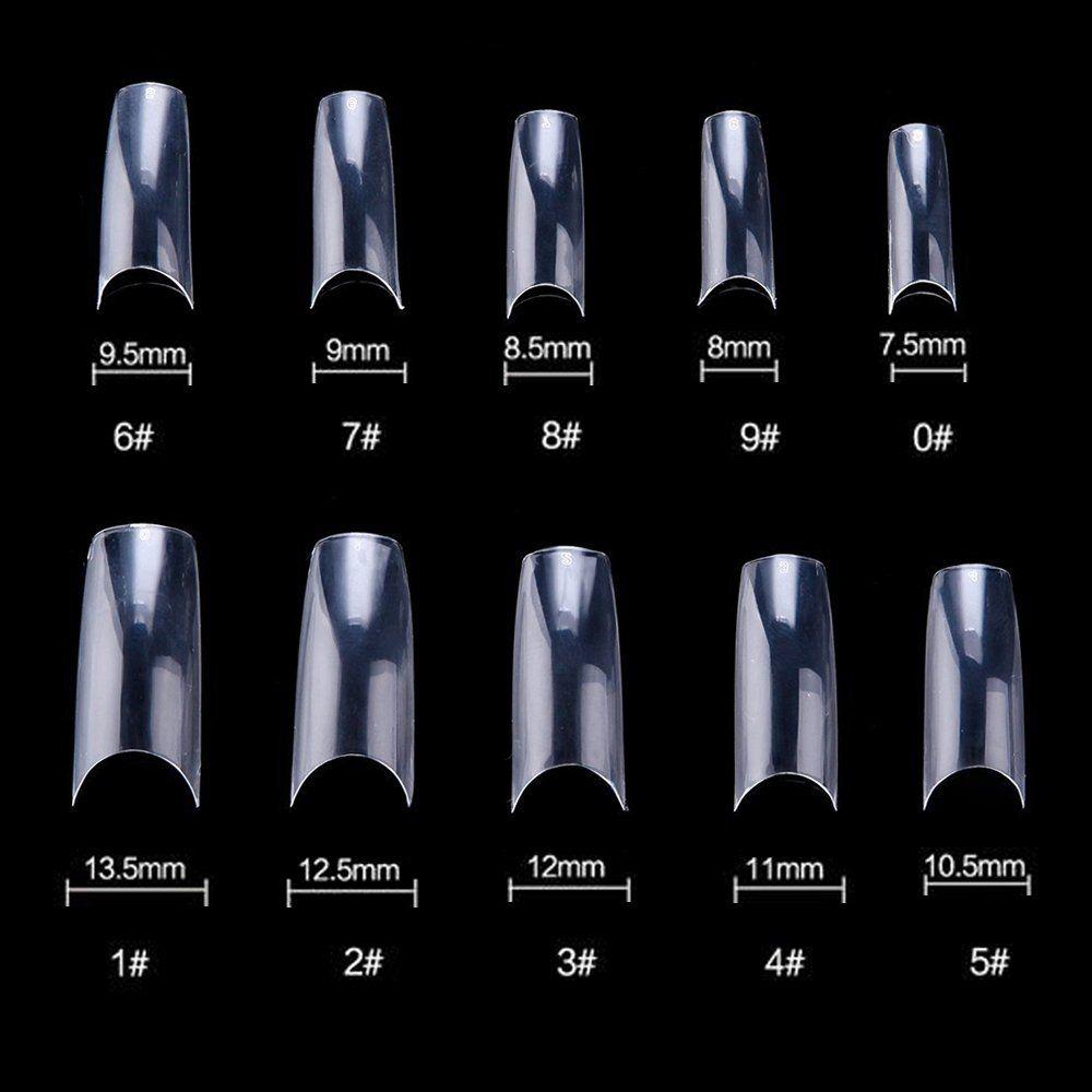 500 Pcs Coffin Nails Long Ballerina Fake Nail Tips 10 Sizes Perfect Length Full Coverage Acrylic False Nailsfalse Nai Acrylic Nail Tips Nail Art Diy Fake Nails