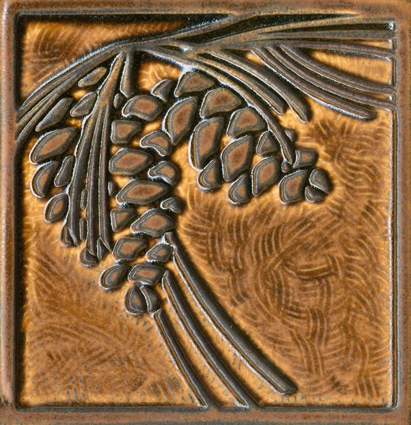 6x6 Pinecone Relief Tile #motawi