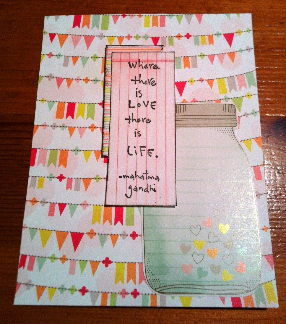 Where there is love there is life wedding shower card by erin kys