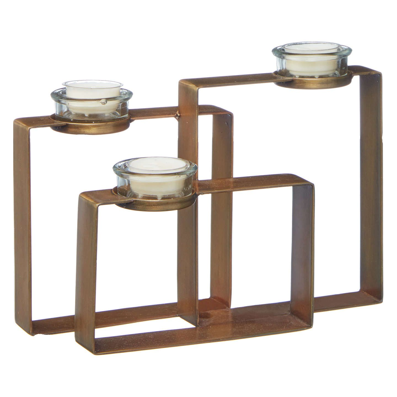 John Lewis Partners Geometric Tealight Holder Brass Candle Holders Tea Light Holder Tea Lights