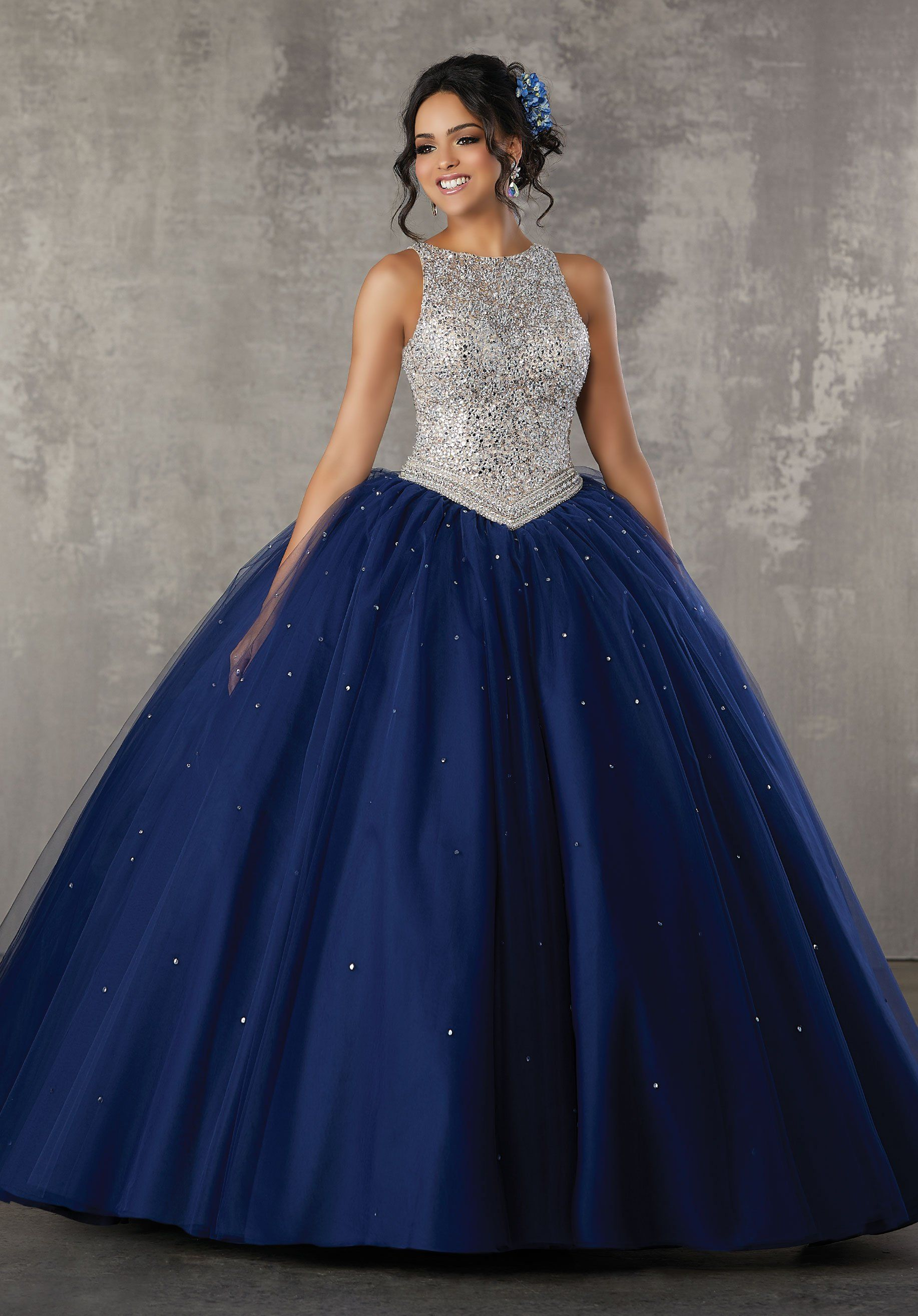 236f82236af Beaded Tulle Quinceanera Dress by Mori Lee Valencia 60040 in 2019 ...