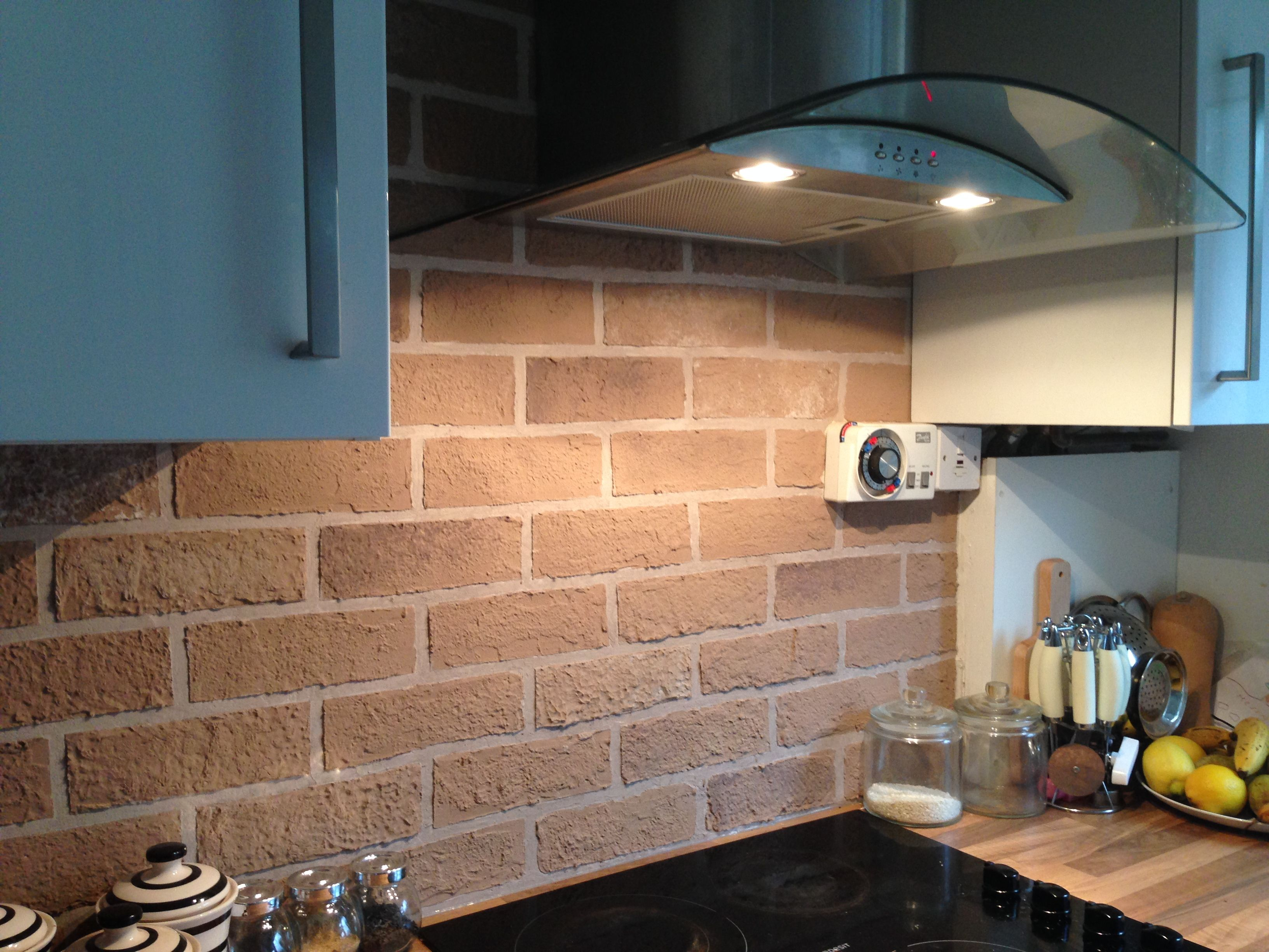 How to create a faux exposed brick wall (With images ...