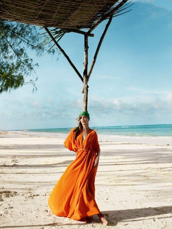stunning orange #beach kaftan