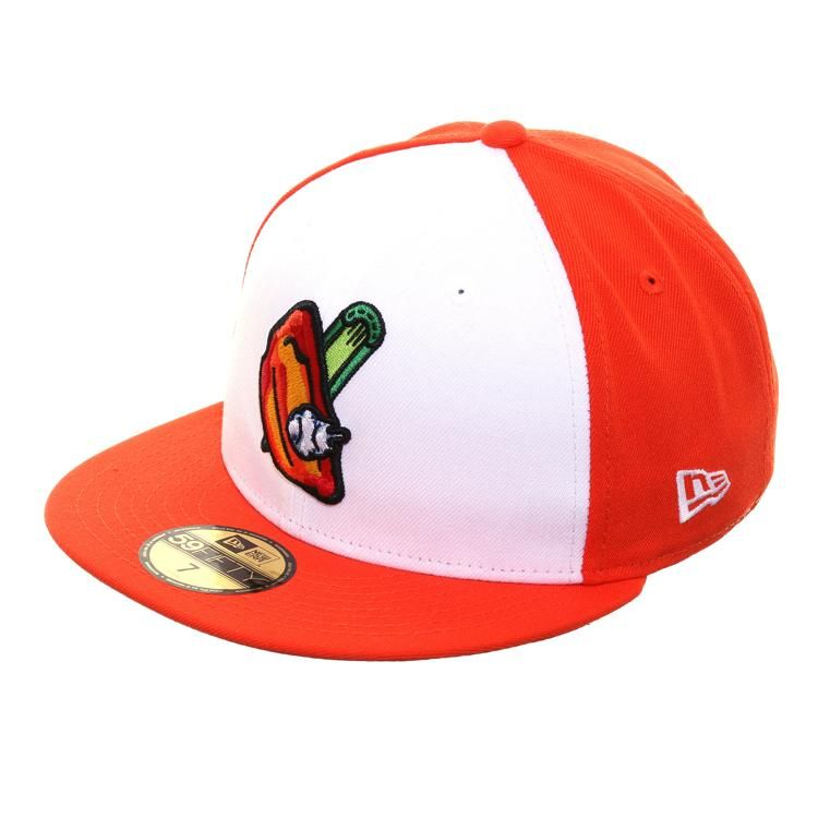 New Era 59fifty Buffalo Bisons Buffalo Wing Hat White Orange New Era 59fifty New Era New Era Cap