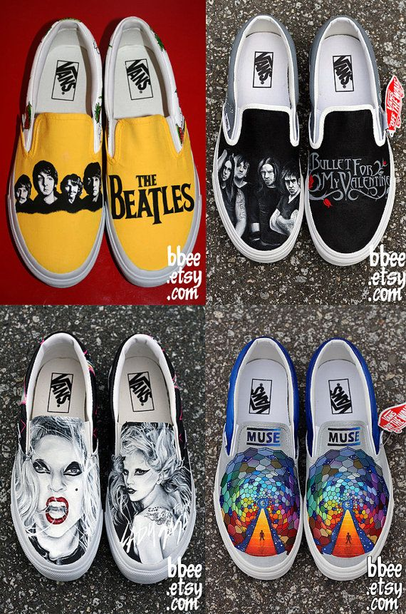 fbe69dc783f DESIGN YOUR OWN Custom Hand Painted Shoes by BBEE on Etsy   TOTALLY WANT THE  BULLET FOR MY VALENTINE ONES