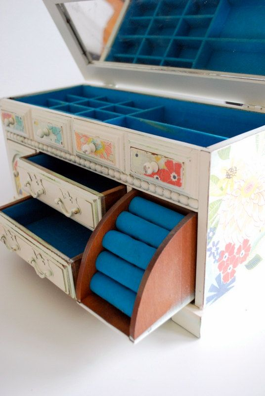 Refurbished Vintage Jewelry Box  Large classic by happydayvintage, $55.00