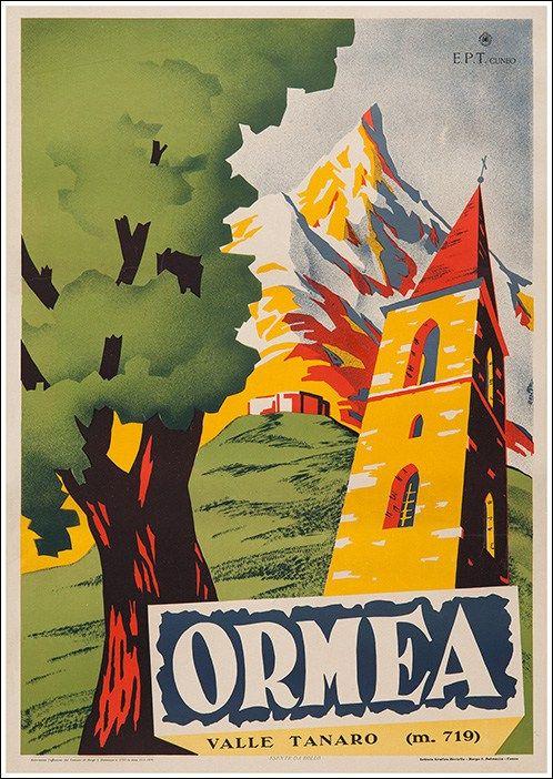 Ormea Valle Tanaro Cuneo Original Vintage Poster Manifesti Originali D Epoca Www Posterimag Poster Vintage Poster Di Viaggio Vintage Pubblicita D Epoca