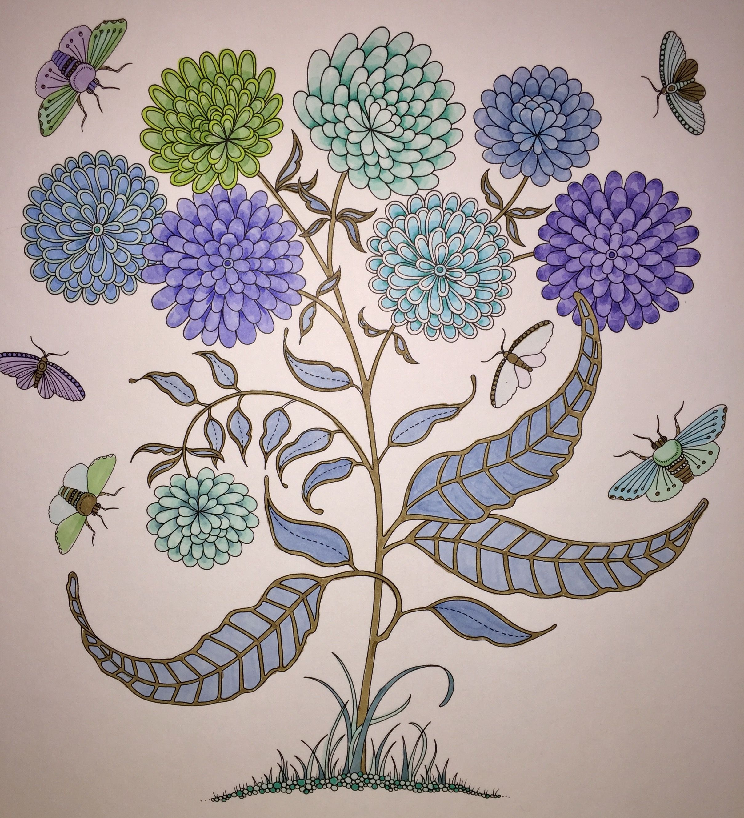 Mums Secret Garden Coloring Book